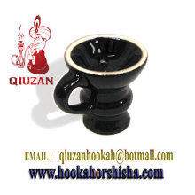 Exquisite Glazed Medium Hookah Ceramic Head With Handle
