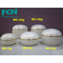 Pearl yellow cap fancy frosted cosmetic jars pp 150g 100g 50g