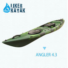 4,3 m Angler 4.3 pesca de un solo asiento sentarse en Kayak superior, motor disponible