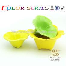 Ustensiles de cuisine pour impression de couleurs, émaillis chinois décoré snack snack pour vente en gros