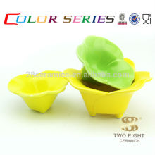 colors printing kitchen utensil , Chinese enamel decorated snack bowl for wholesale