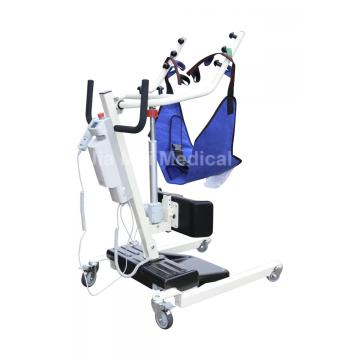 Electric sit to stand patient lift