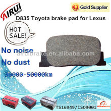 D835 Toyota pastillas de freno para Lexus