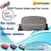 Plaquette de frein D835 Toyota pour Lexus