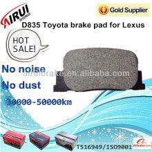 D835 Toyota freio pad para Lexus