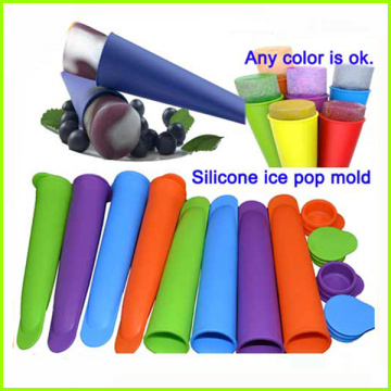 Bunte Food Grade Silicone Popsicle Ice Pop Schimmel