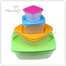 4pack Bento Lunch Box, Microwave Safe Plastic Storage Food Container