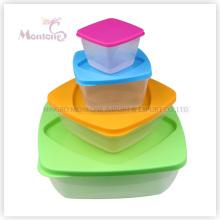 Коробка 4pack Бенто-ланч, Микроволновая печь безопасные Пластиковые хранения пищевых контейнеров