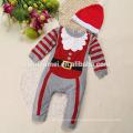 2017 back cute design long sleeve Christmas romper baby boy