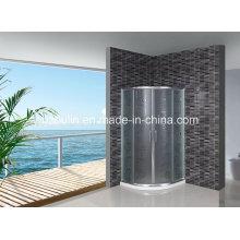 Acid Glas Duschwand mit weißem Wasser Bar (AS-904)