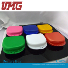 Colorful Dental Denture Retainer Box, Tooth Box, Dental Instrument