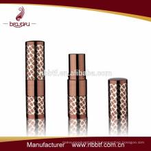 Métal personnalisé petit tube de rouge à lèvres vide avec logo