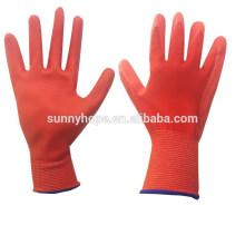 CE ventas de palma de espuma de goma recubierta de nitrilo guantes