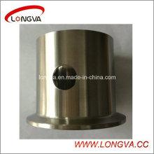 Serre-joint sanitaire en acier inoxydable avec trou