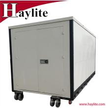 Светлой обязанности стальные портативной машинки 20ft складной контейнер с колесами для сбывания