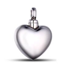 Pingente de coração de cinzas de aço inoxidável