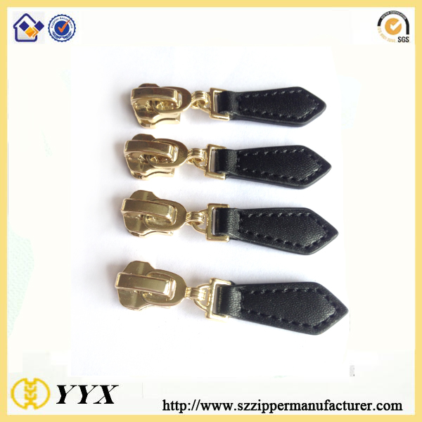 leather zipper slider pulls