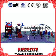 Escalada de plástico diapositiva al aire libre Parque de juegos para el apartamento