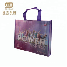 Custom logo print laminated non woven shopping bags
