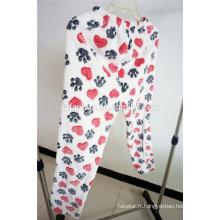 2015 coral de patron vente chaude vêtements de nuit à capuchon en molleton