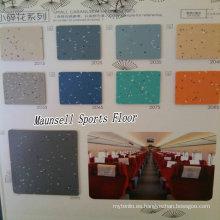 Suelo de calidad superior de PVC / homogéneo de la fábrica de China para las áreas de transporte