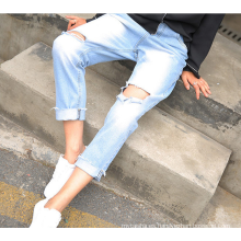 2020 otoño nuevos pantalones vaqueros de las mujeres de las medias de los pantalones vaqueros de las mujeres