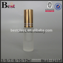 Cosmrtics 5 ml 10 ml petit rouleau sur la bouteille givré parfum tube verre rouleau bouteille flacon avec capuchon en or alibaba chine
