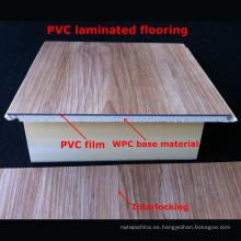7m m Pisos laminados populares de WPC Pisos laminados del PVC Pisos decorativos Impermeables Durable