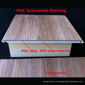 7 мм Популярный WPC Ламинированные полы ПВХ Ламинированные полы Декоративные полы Водонепроницаемый Прочный