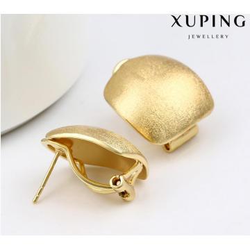 91994 clavos del pendiente de la joyería plateada oro simple de la moda en la aleación del metal