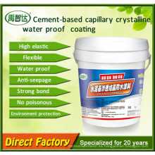 Revestimiento impermeabilizante cristalino capilar cementoso