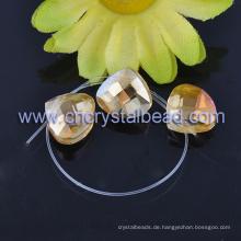 Der Überzug Herz Fashion-Kristall-Perlen