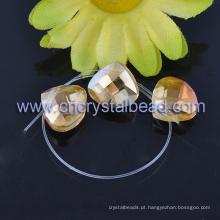 Grânulos de cristal do chapeamento coração Fashion