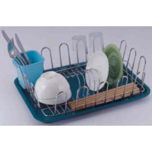 Dish Draining Basket With Plastic Tray