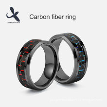 Fashion Plated Carbon Fiber Tungsten Ring