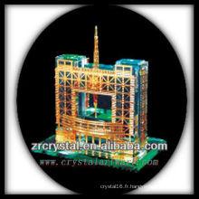 Magnifique modèle de bâtiment en cristal H044