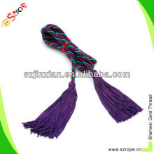 decorative purple curtain tassels