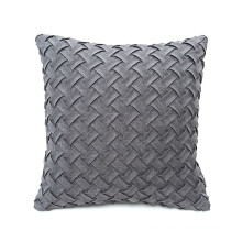 Soft Home Decorative woven throw textured embossed Pillow