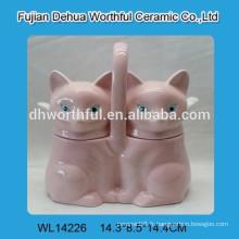Pot de ceramique créative en forme de renard