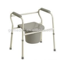 Plastic hospital commode chair with bedpan CM001