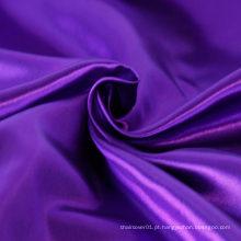 Rolo de tecido de cetim 100% poliéster elegante roxo