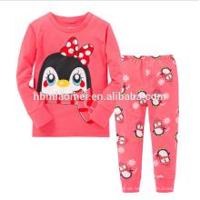 Pijamas largos al por mayor de alta calidad de las muchachas de los niños de la manga con precio bajo