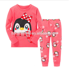 Atacado de alta qualidade manga longa crianças meninas pijamas com preço baixo