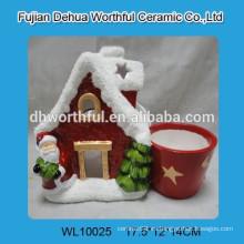 Flor de cerámica de la forma de la casa de la Navidad del diseño moderno