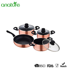 7 Pcs Pressed Marble Coating Cookware Set