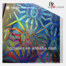 Holographischer transparenter Plastik-Kartenbeutel