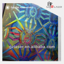 Holographic transparent plastic id card pouch