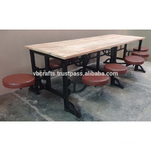 10 seater industrial cast iron canteen table