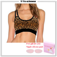 High Impact Sublimation Cheerleading Padded Sports Bra