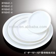 Platos de porcelana para el hotel